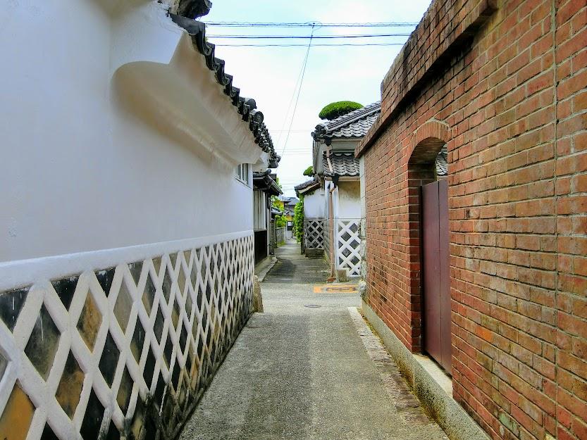阿知須の町並み
