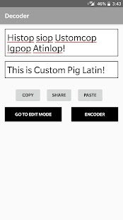 Custom Pig Latin Screenshot