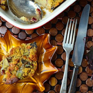 Vegan Apple Chestnut Corn Bread Stuffing