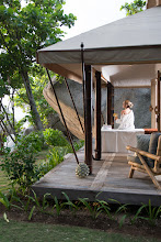 Photo: Nikoi tented spa pavilion surrounded by stunning granite rock formations