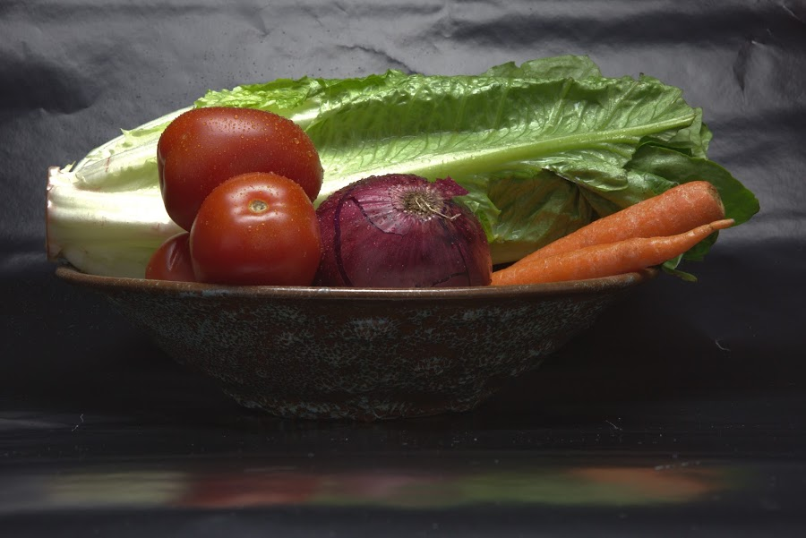 Salad Fixins by Cal Brown - Food & Drink Fruits & Vegetables ( salad, food and drink, lettuce, food, carrots, fruits and vegetables, food photography, tomatoes, close up, onion,  )
