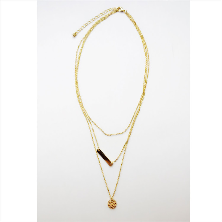 N021 - G. Minimalist Bar Necklace by House of LaBelleD.