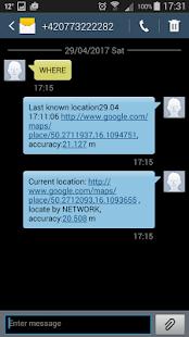 Security SMS Tracker - náhled