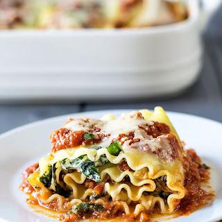 Chicken and Sun Dried Tomato Lasagna Roll-Ups