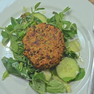 Greek Style Tomato and Lentil Burgers