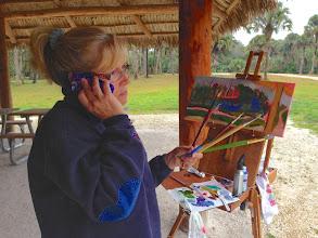 Photo: Diane Hagg painting at Riverbend Pk