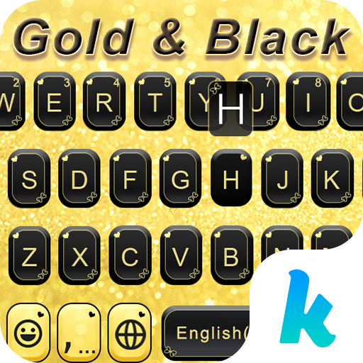 Gold & Black Keyboard Theme 生活 App LOGO-硬是要APP