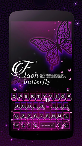 Flash Butterfly iKeyboardTheme