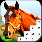 Horses Coloring Book Pixel Pony icon