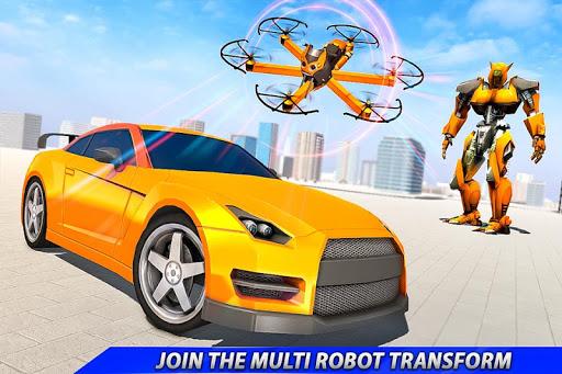 Drone Robot Car Transforming Gameu2013 Car Robot Games screenshots 11