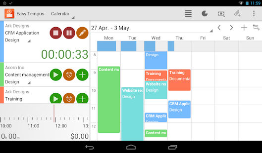 Timesheets and Invoices - screenshot thumbnail