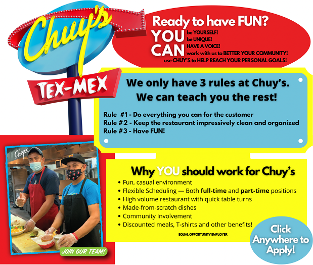 🌮Chuy's in Pembroke Pines is Ready to Hire YOU! Apply ...
