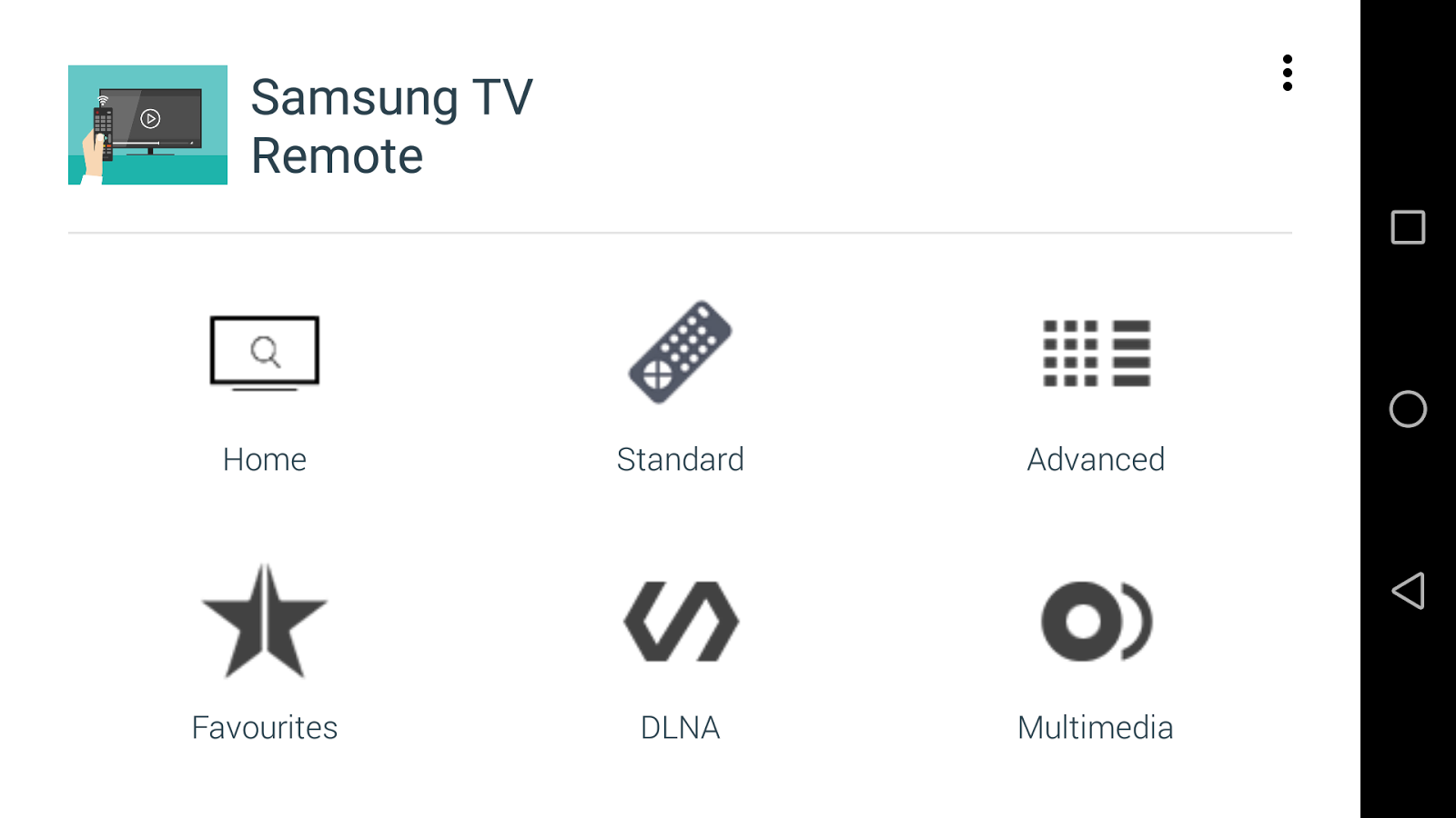 TV Remote for Samsung TV- screenshot