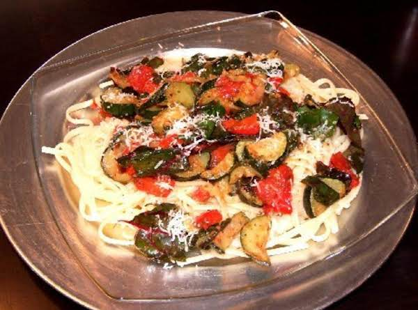 Spaghetti With Saute Veggies Recipe