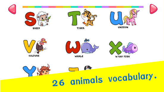 Coloring Book Game : Alphabet Animals - náhled