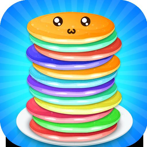 Rainbow Pancake Towers - Pile Up Breakfast Game