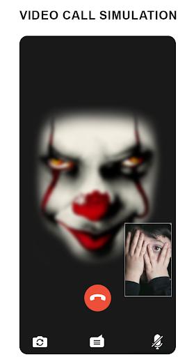 scary clown fake video call  screenshots 2