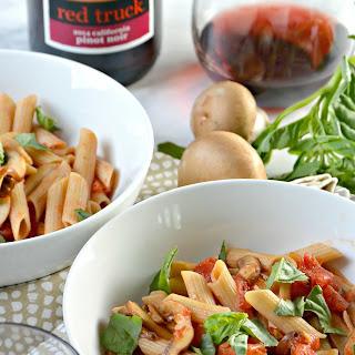 Tomato Mushroom Pasta (30 minute meal).