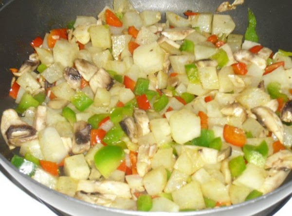 In a hot pan add veggies cook til tender add choice of seasonings.
