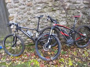 Photo: Le vélo électrique qu'Etienne avait emprunté ce jour, il s'est amusé comme un fou