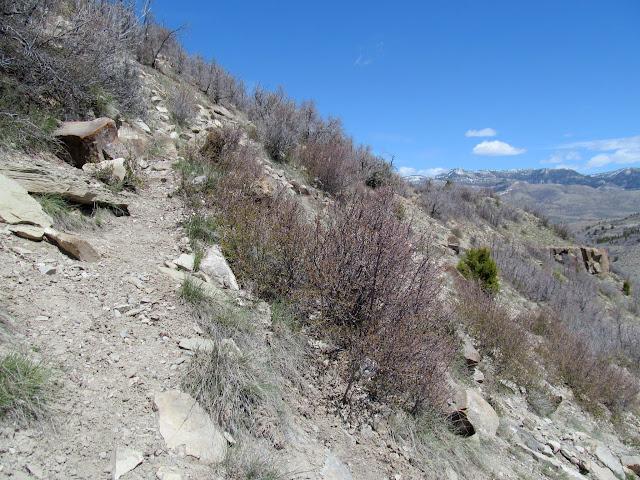 Nearing the top of the ridge