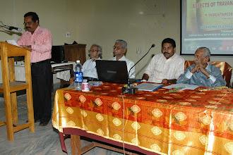 Photo: Speech : Mr.Reji Kumar (Director, Kerala Archiology Department)