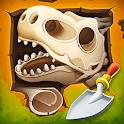 Dig up dinosaur bones: Fossil digging games icon