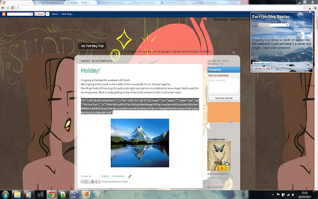 Encrypto-Blog Reader