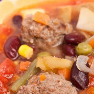 Meatball Vegetable Soup.