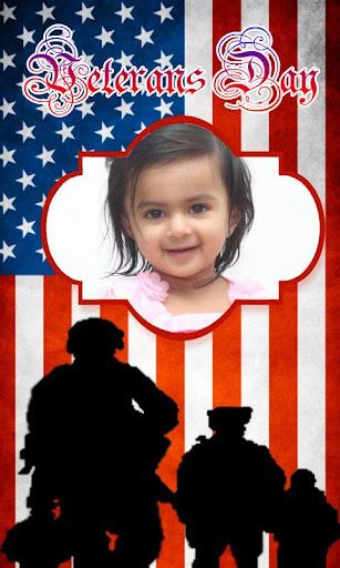 Veterans Day Photoframe Effect