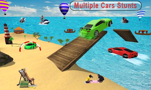 Water Surfer car Floating Beach Drive apkpoly screenshots 4