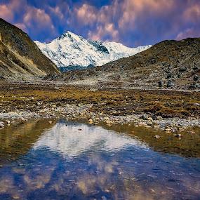 Reflection by Tien Sang Kok - Landscapes Mountains & Hills ( reflection, mountain, nature, lake, landscape, nepal )