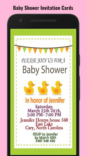 Baby Shower Invitation Maker screenshot 1