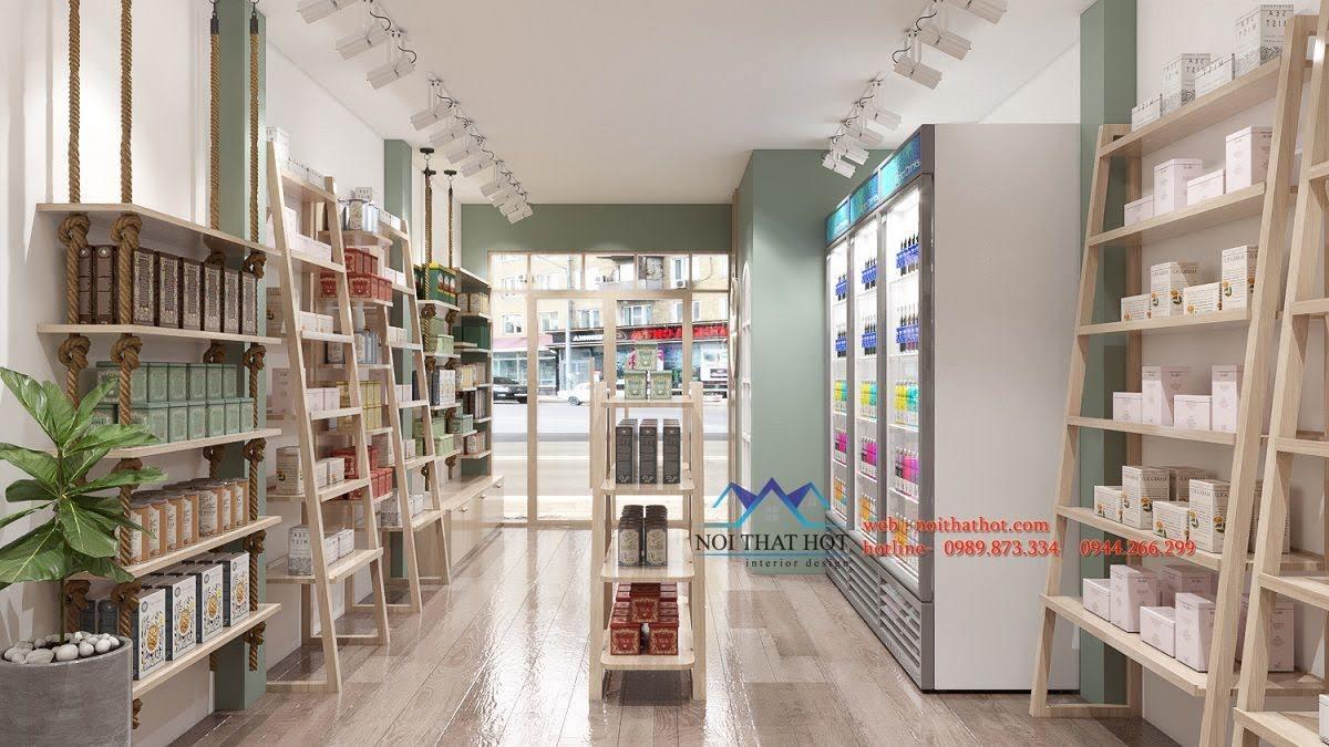 thiết kế cửa hàng bán nấm ăn hà nội