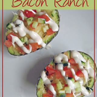 Bacon Ranch Avocado Boats.