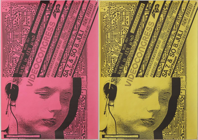 Photo: Plakat für VIDEOCONGRESS No.7 in Stuttgart DIN-A2, 59,5 x 41,5 cm © Hannelore Kober, 1984 all rights reserved