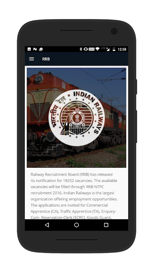 RRB- Railway Recruitment Board- screenshot