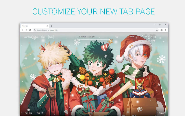 My Hero Academia Deku Custom New Tab