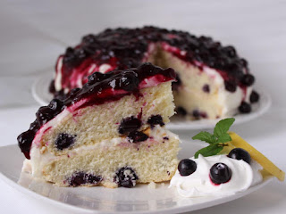 Blueberries And Cream Cake Recipe