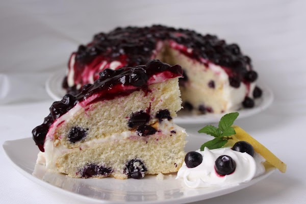 Blueberries And Cream Cake Recipe