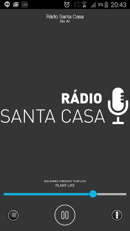 Rádio Santa Casa- screenshot
