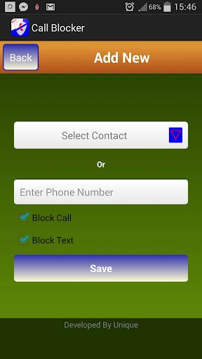 Unknown Number Blocker
