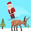 Santa goes Skiing : Christmas Holiday Fun Games icon