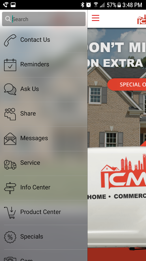 ICM Air Conditioning- screenshot