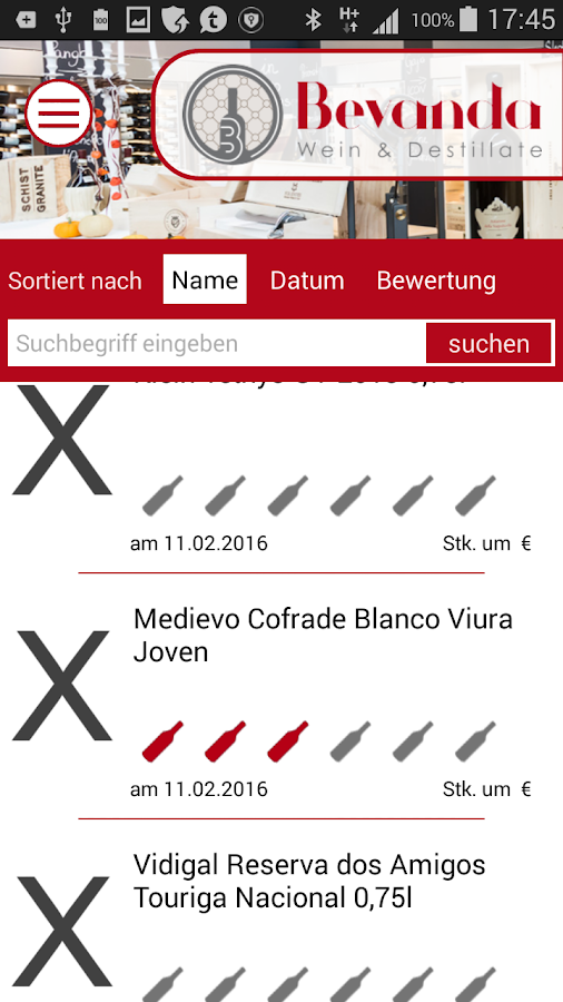 BevandaCard- screenshot