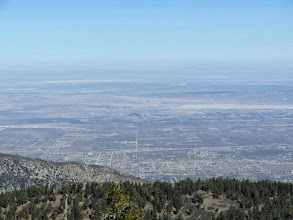 Photo: Zoomed-in view north toward the vast Mojave Desert