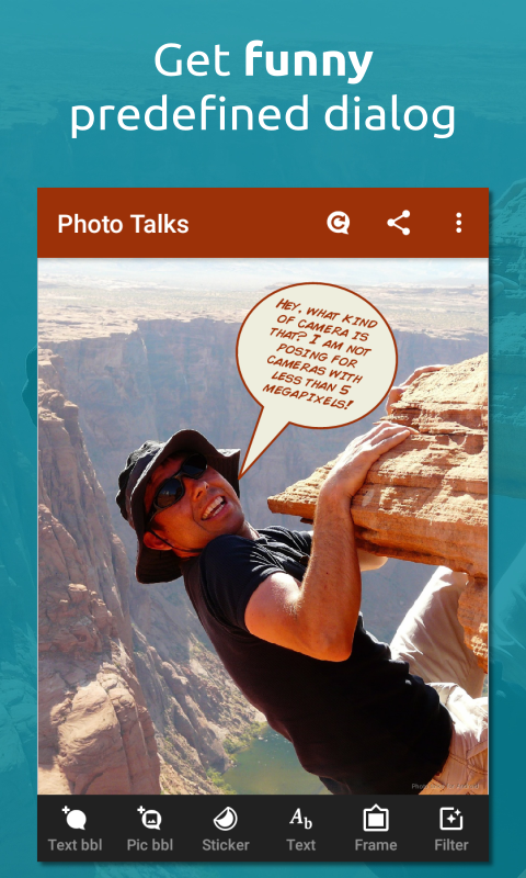 Photo talks: speech bubbles- screenshot