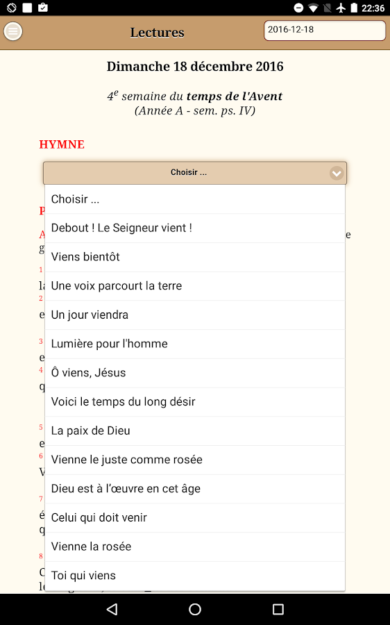 Liturgie des heures android apps on google play - Aelf liturgie des heures office des laudes ...