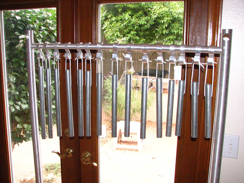 Photo: Weekend project for Nick & Lexi's school: two sets of chimes/tubular bells