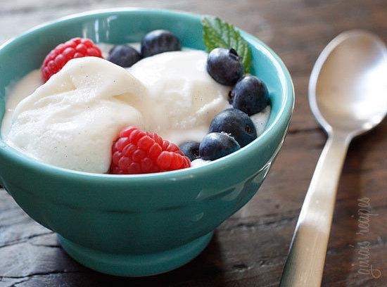 Low Fat Vanilla Bean Frozen Yogurt Recipe